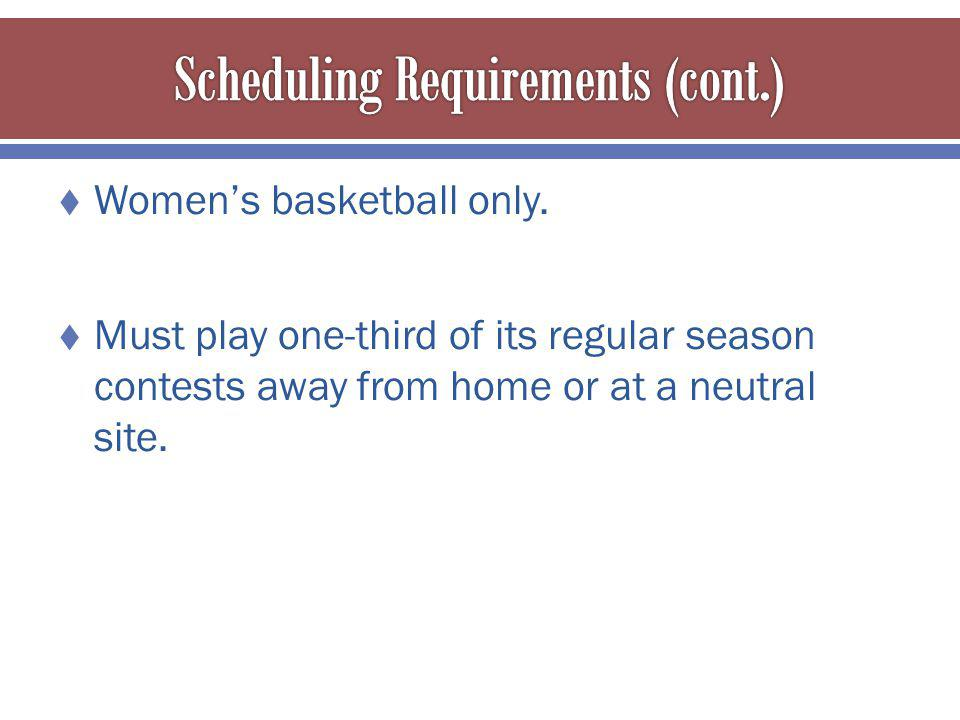 Womens basketball only.
