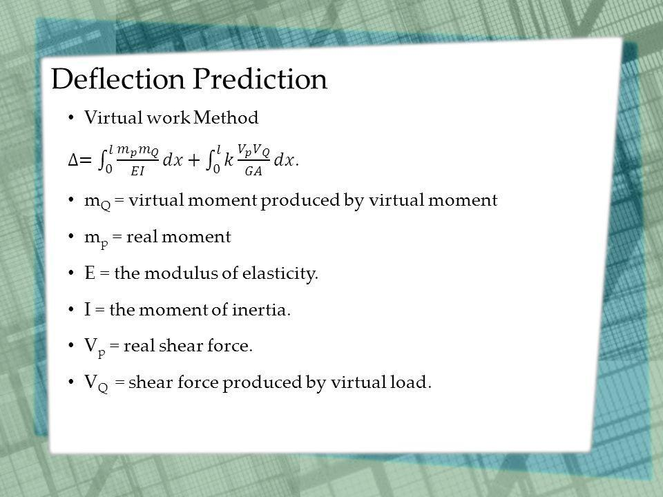 Deflection Prediction