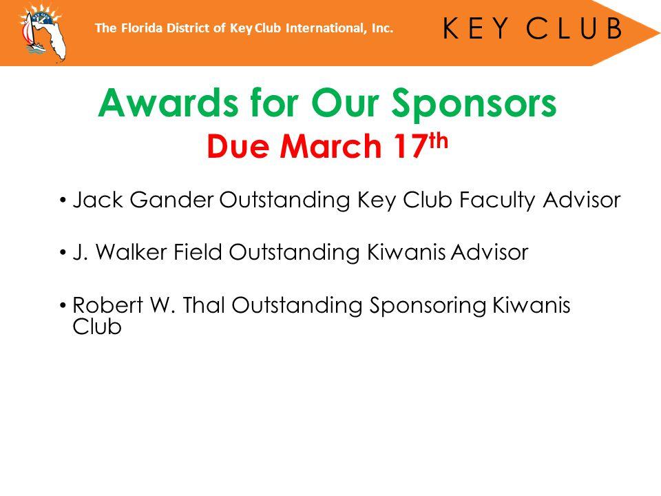 Jack Gander Outstanding Key Club Faculty Advisor J.