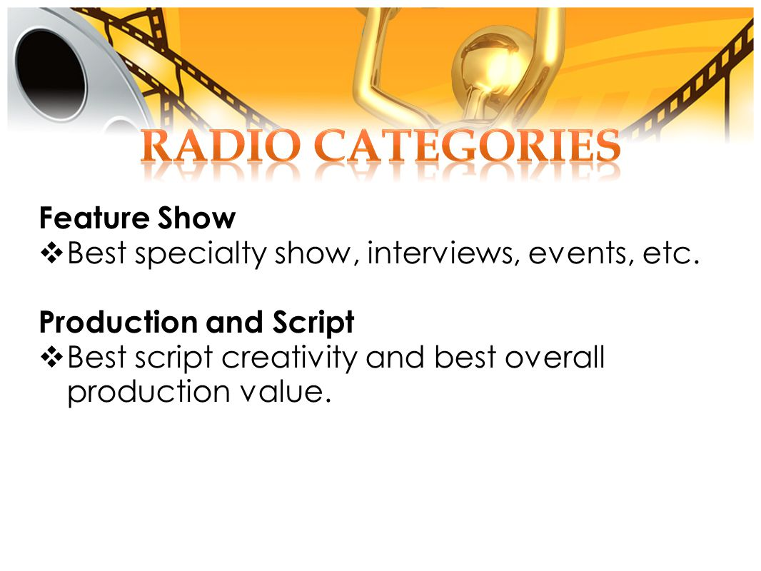 Feature Show Best specialty show, interviews, events, etc.