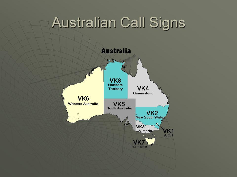 Australian Call Signs
