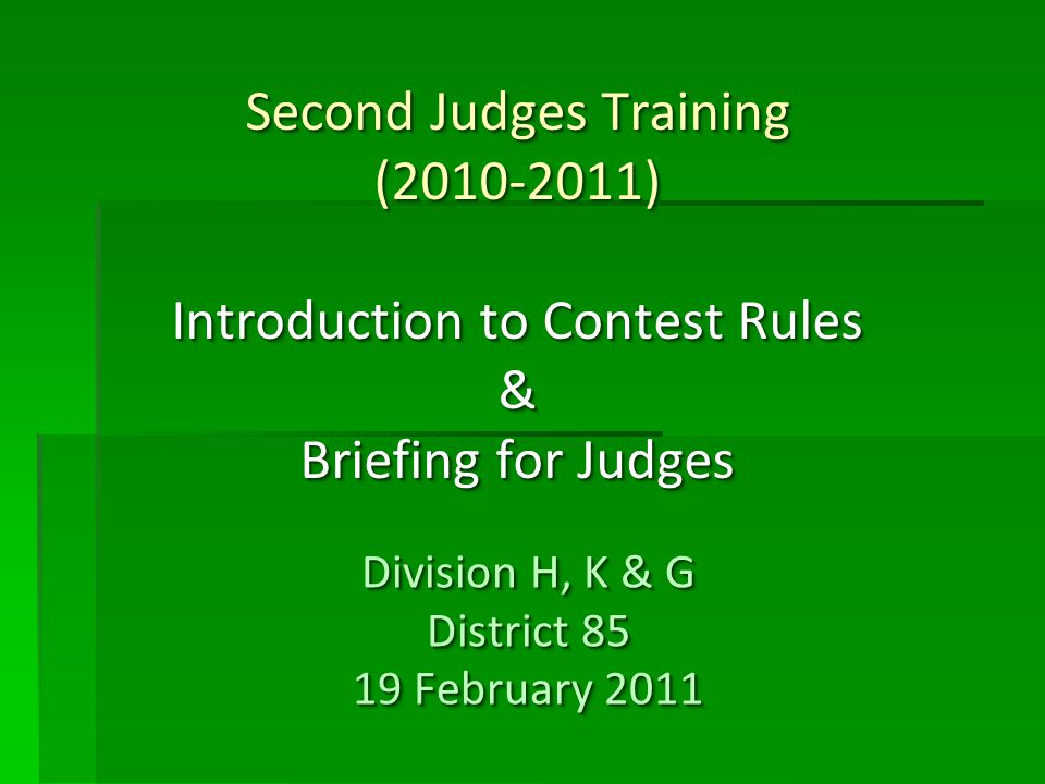 Quiz 1 Tie Breaking Judge gives his judging ballot to Ballot Counters and Ballot Counters include this score into the total score of individual contestants.