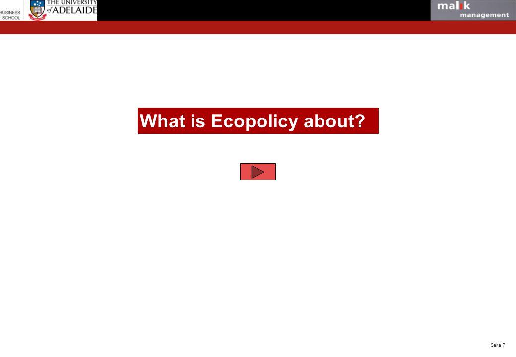 Seite 18 © Malik Management https://www. facebook.com/#!/ecopolicyade