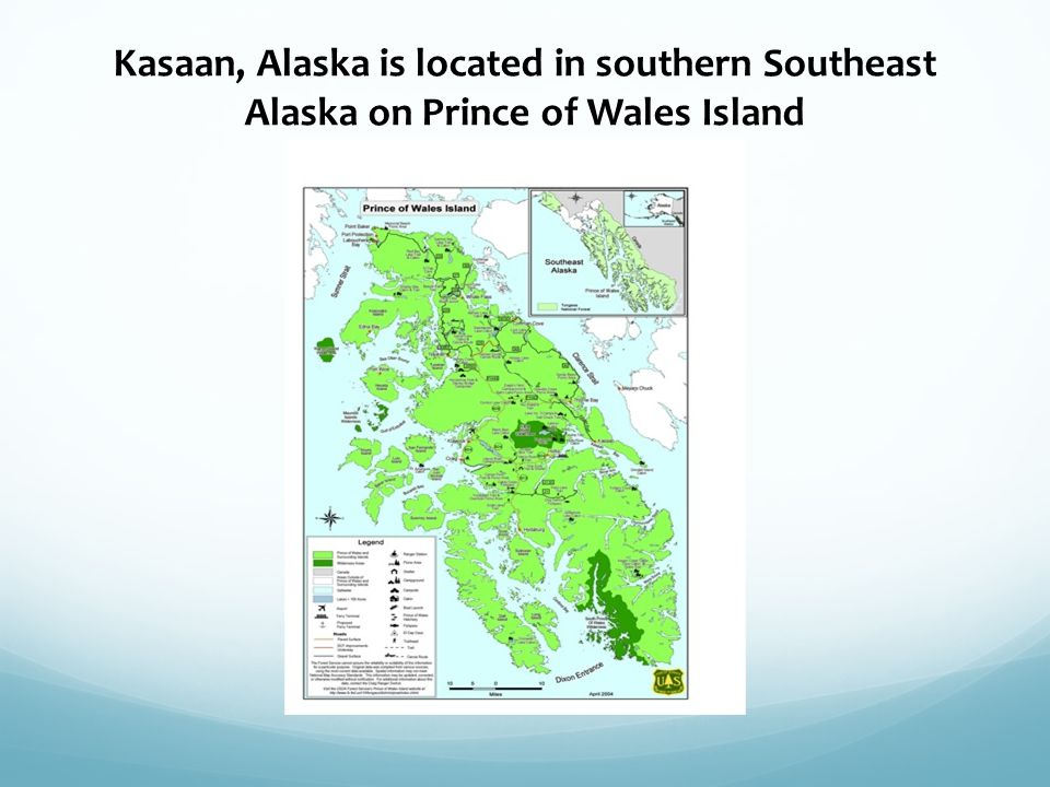 Kasaan, Alaska is located in southern Southeast Alaska on Prince of Wales Island