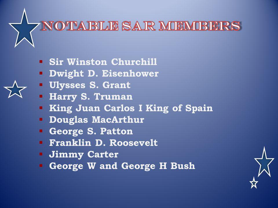 Sir Winston Churchill Dwight D. Eisenhower Ulysses S. Grant Harry S. Truman King Juan Carlos I King of Spain Douglas MacArthur George S. Patton Frankl
