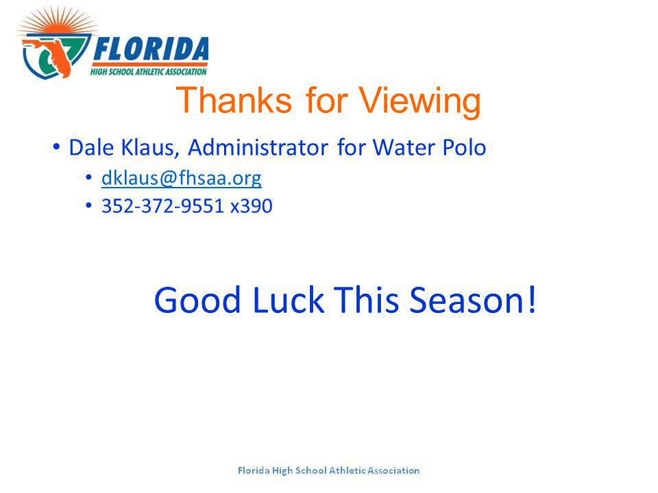 Thanks for Viewing Dale Klaus, Administrator for Water Polo x390 Good Luck This Season!