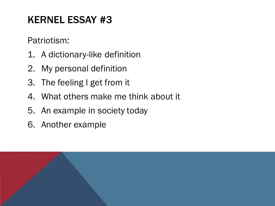 Patriotism definition essay