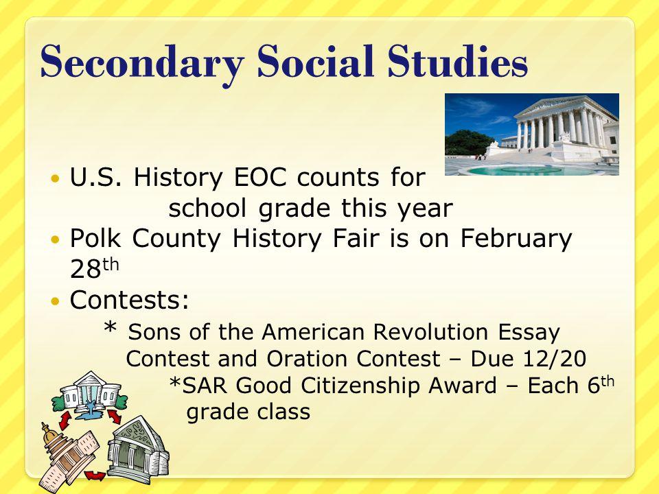 Secondary Social Studies U.S.