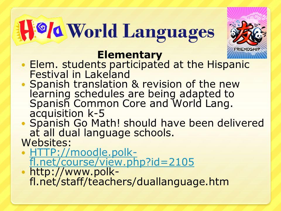 World Languages Elementary Elem.
