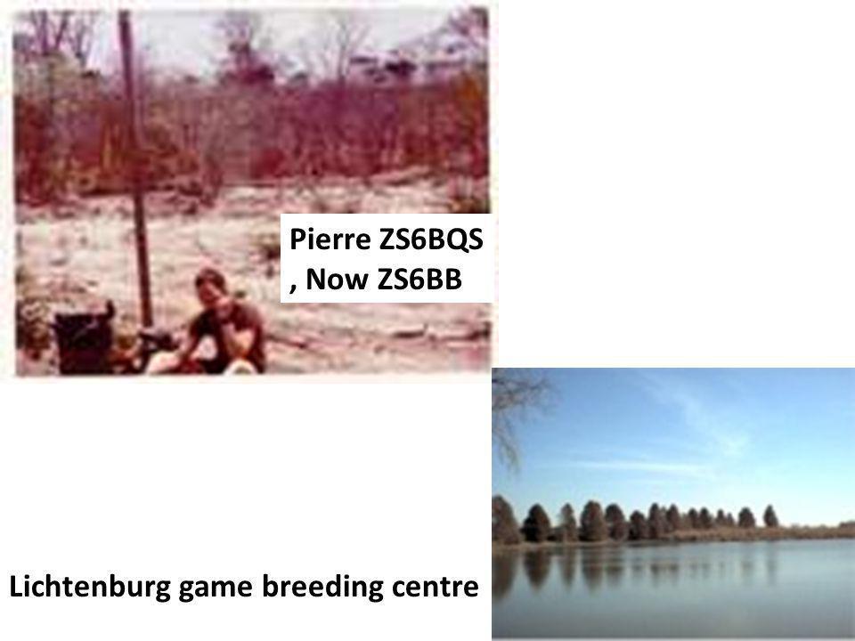 Pierre ZS6BQS, Now ZS6BB Lichtenburg game breeding centre