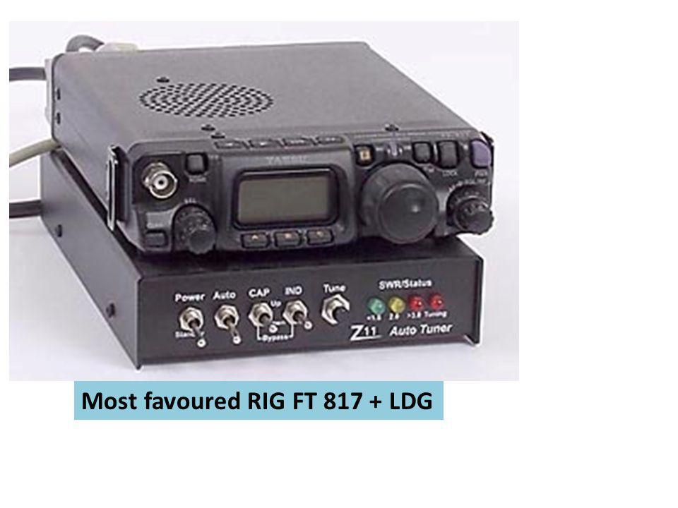 Most favoured RIG FT 817 + LDG