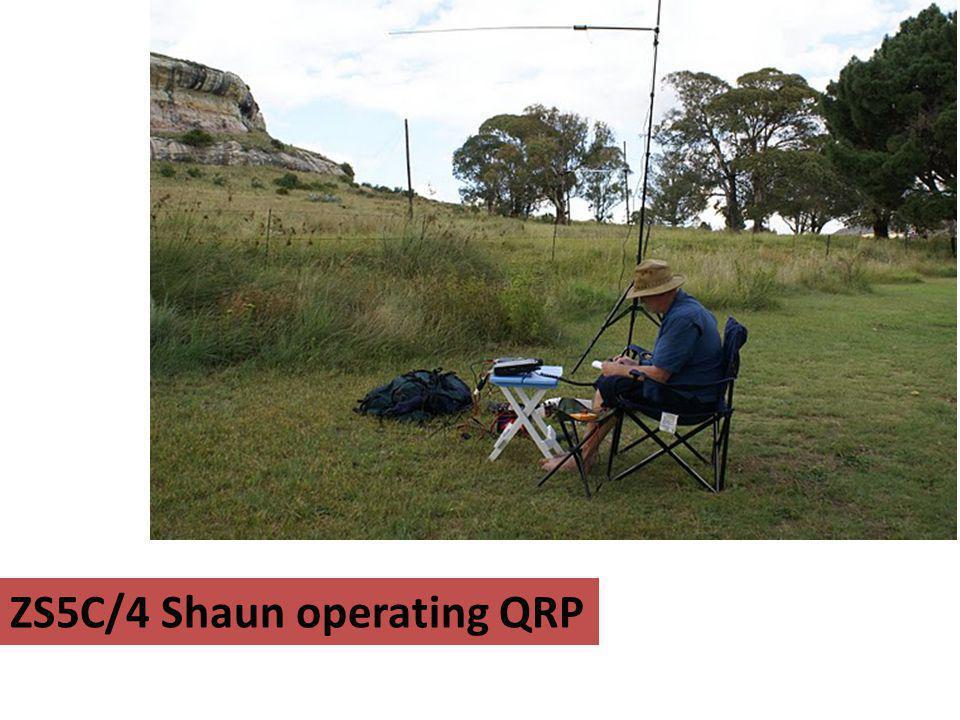 ZS5C/4 Shaun operating QRP