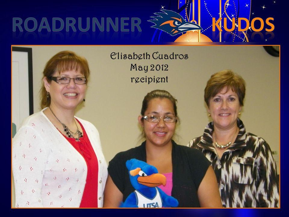 Elisabeth Cuadros May 2012 recipient