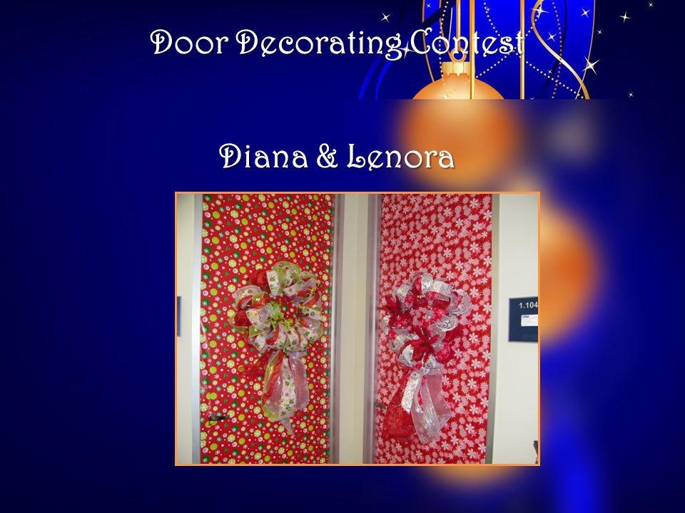 Door Decorating Contest Diana & Lenora
