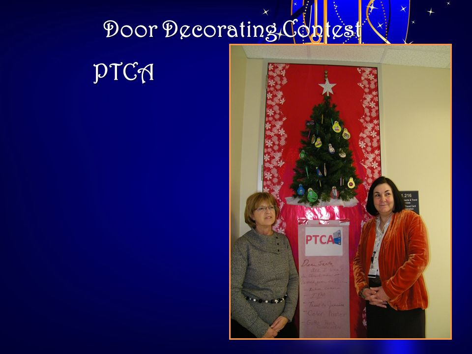 Door Decorating Contest PTCA
