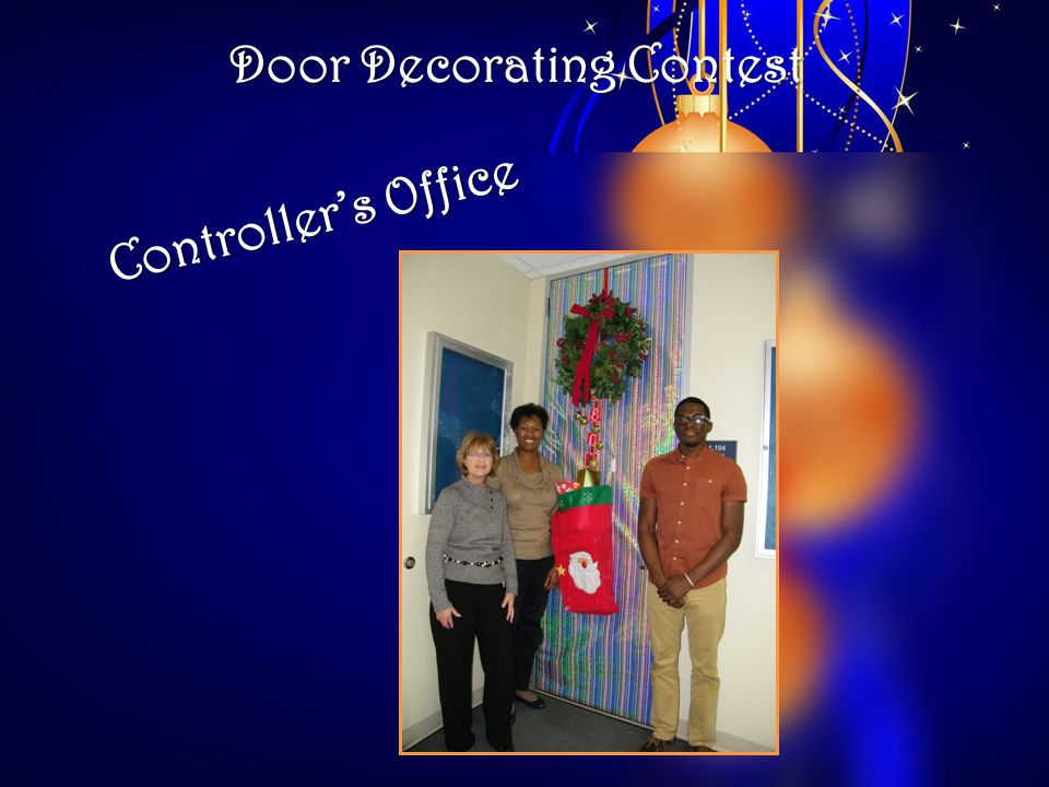 Door Decorating Contest Controllers Office