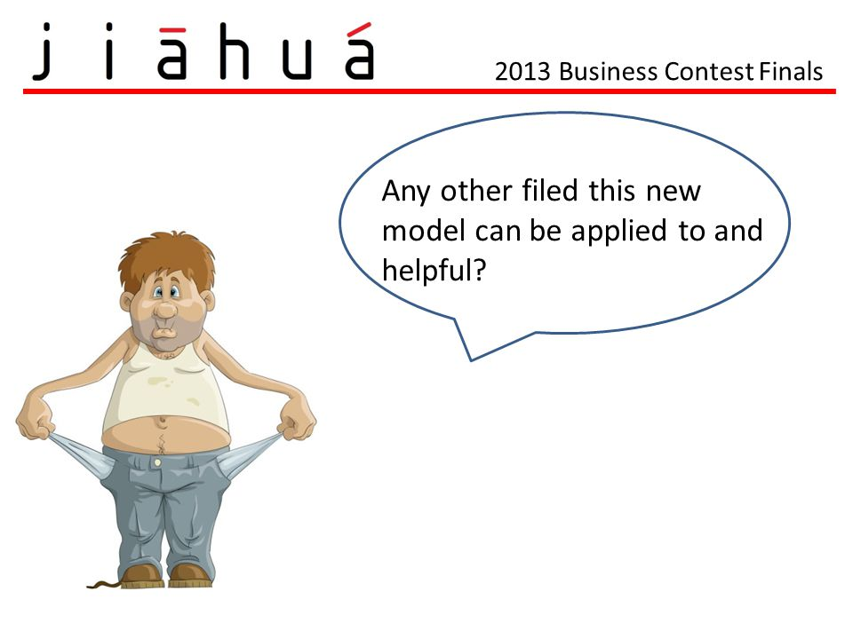 2013 Business Contest Finals Any other filed this new model can be applied to and helpful