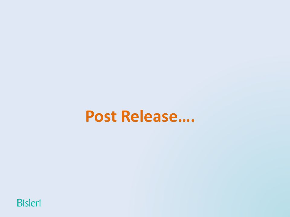 Post Release….