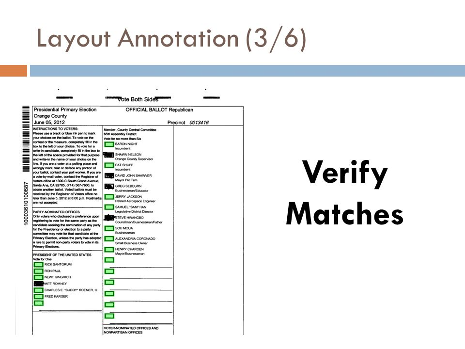 Layout Annotation (3/6) Verify Matches