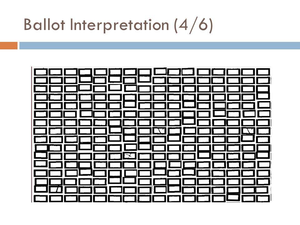 Ballot Interpretation (4/6)