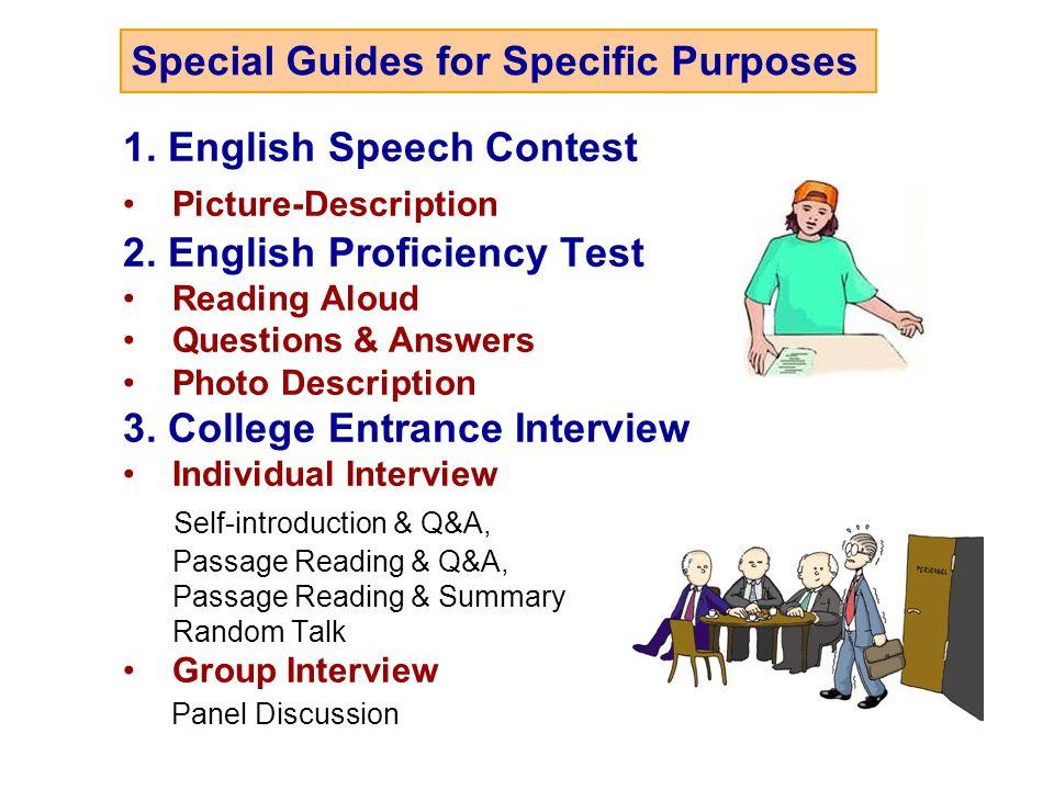 1.English Speech Contest Picture-Description 2.