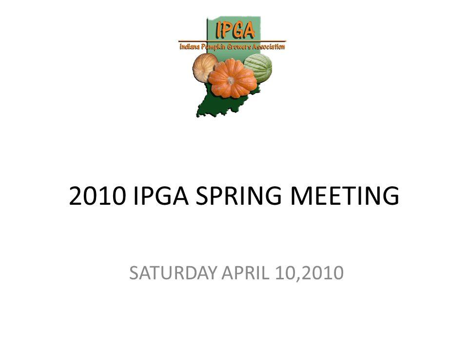2010 IPGA SPRING MEETING SATURDAY APRIL 10,2010