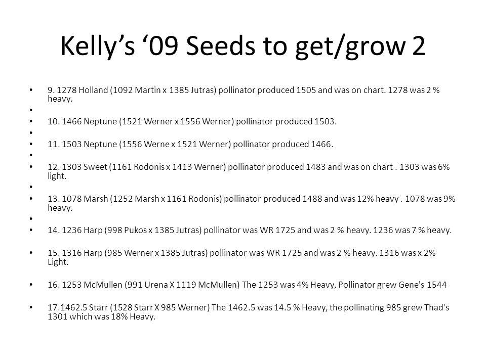 Kellys 09 Seeds to get/grow 2 9.