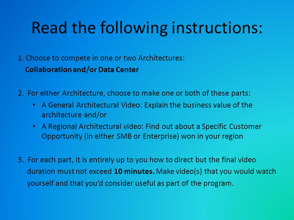 Instructions (cont.) 4.