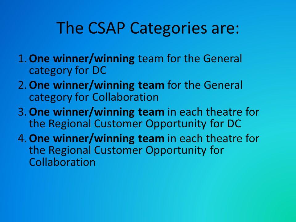 The CSAP Award winners receive: All winners receive: a.