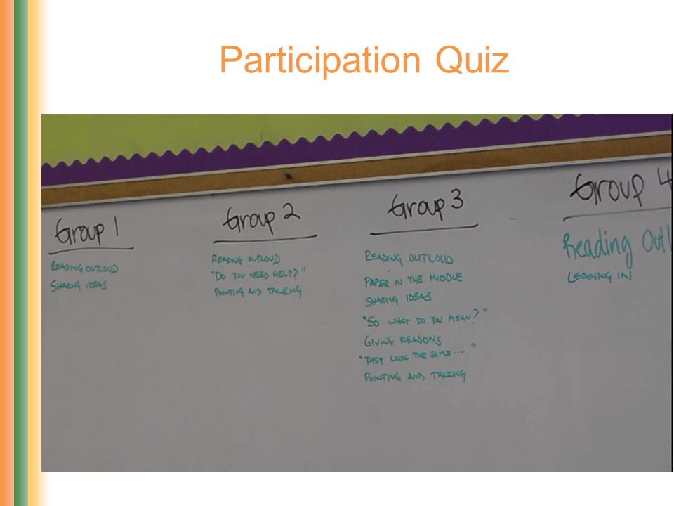 Participation Quiz