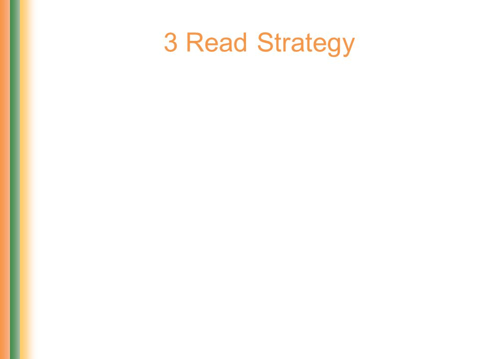 3 Read Strategy