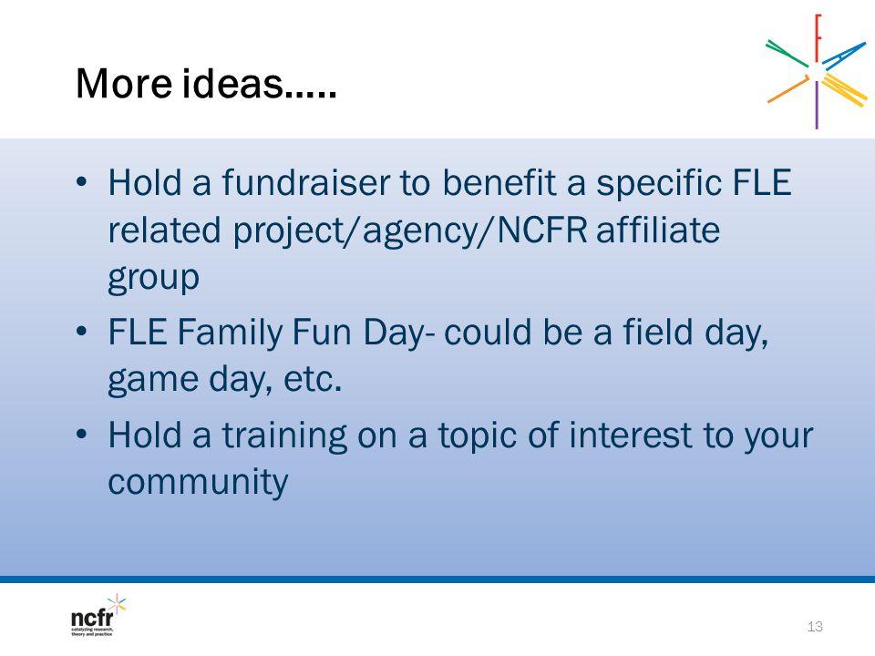 More ideas…..