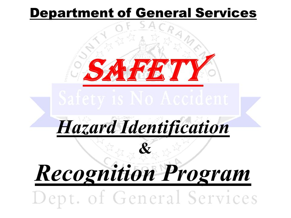 Why is a Safety Program necessary.To prevent injuries, illness and death to employees….