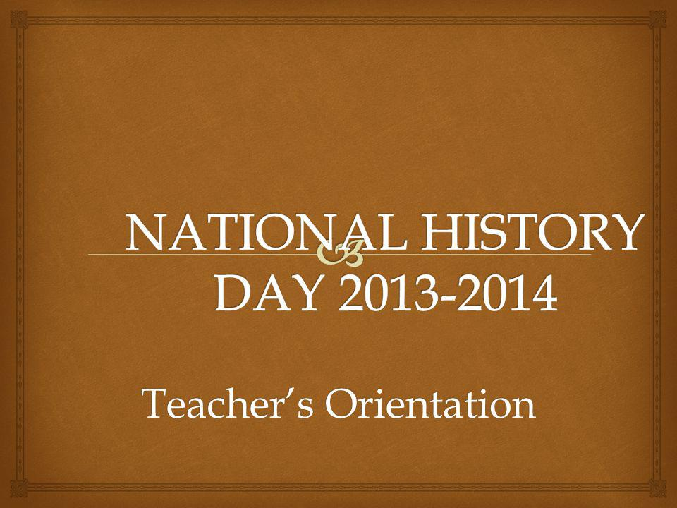 Teachers Orientation