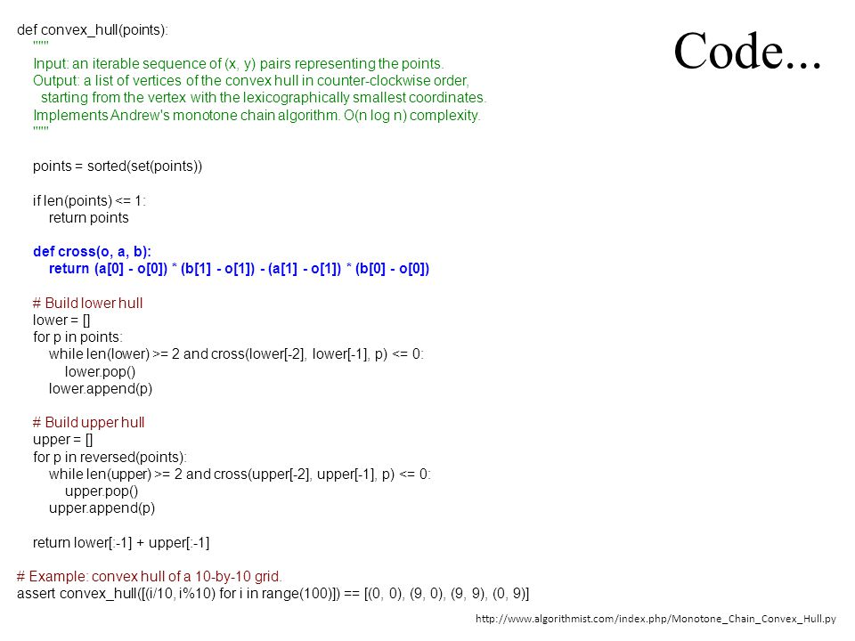 Code...
