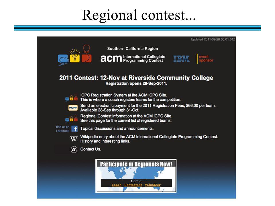 Regional contest...