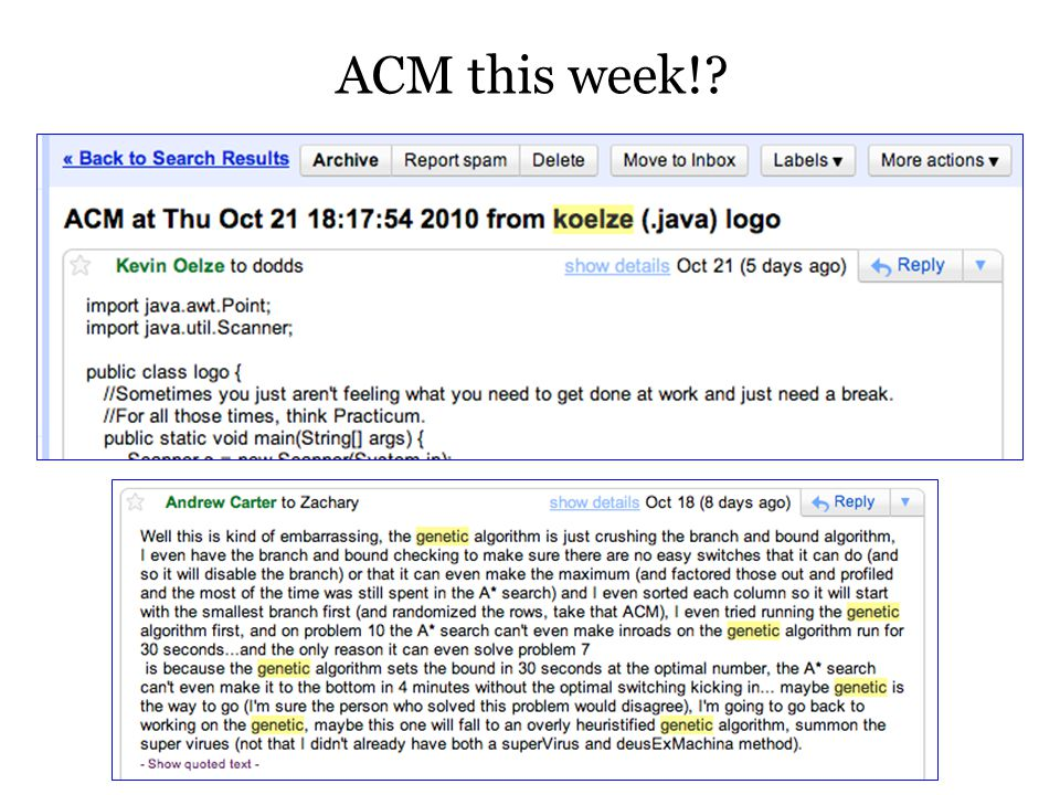 ACM this week!?
