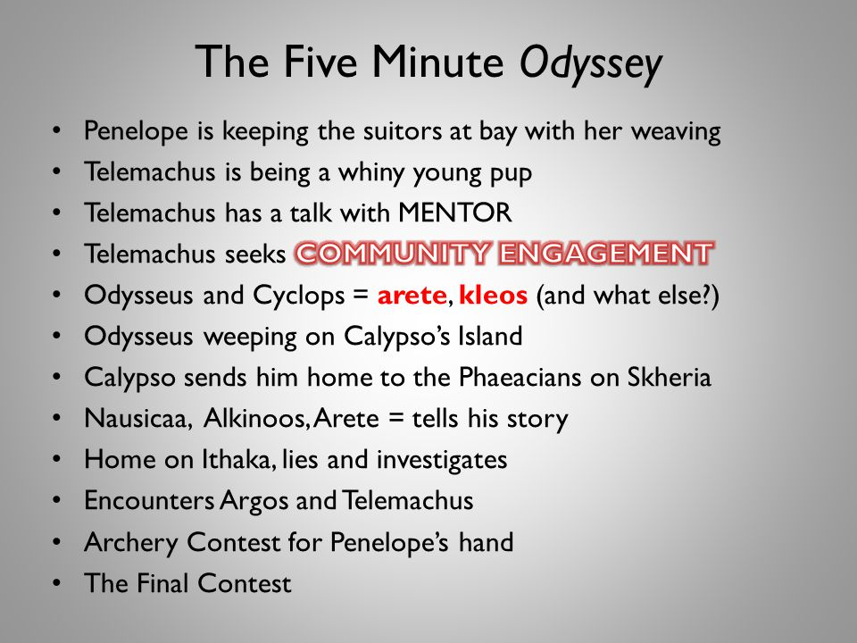 The Five Minute Odyssey