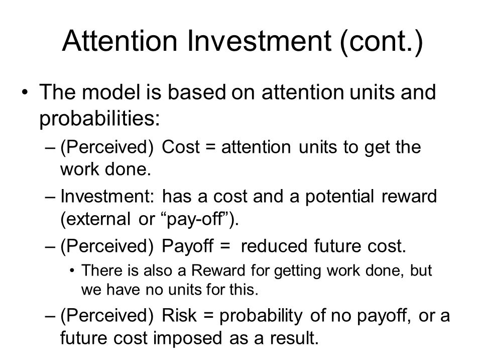 Aspect 1: What Attention Investment Brings Out (1) Respect users right to control their own attention focus.