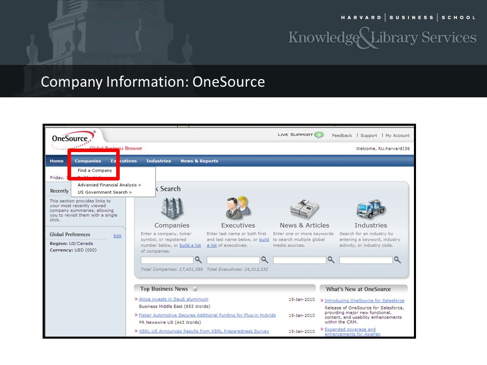 Company Information: OneSource