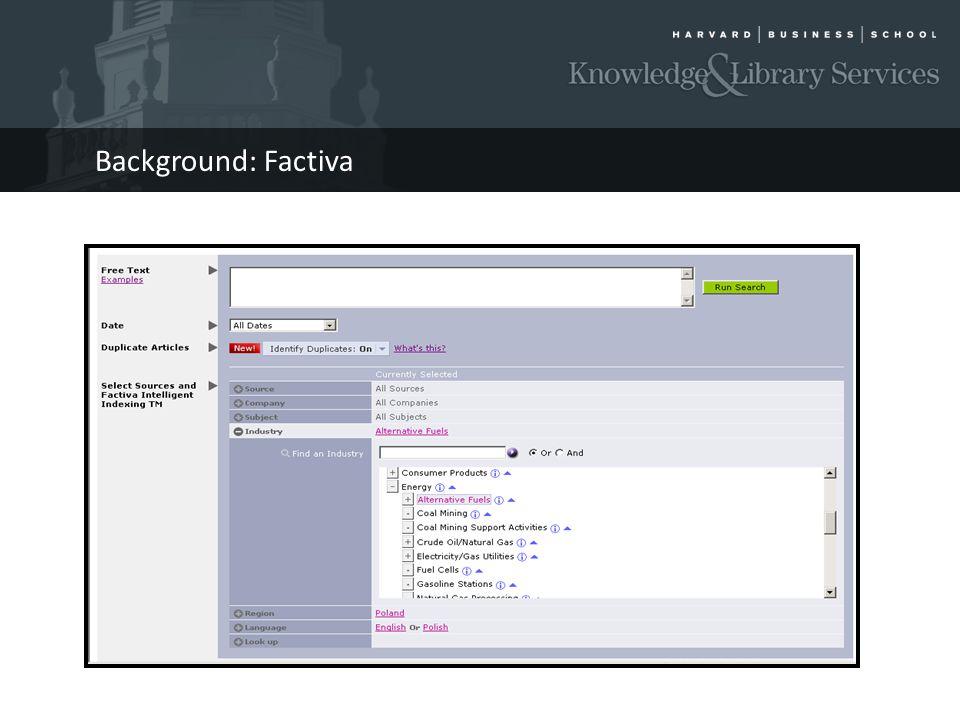 Background: Factiva