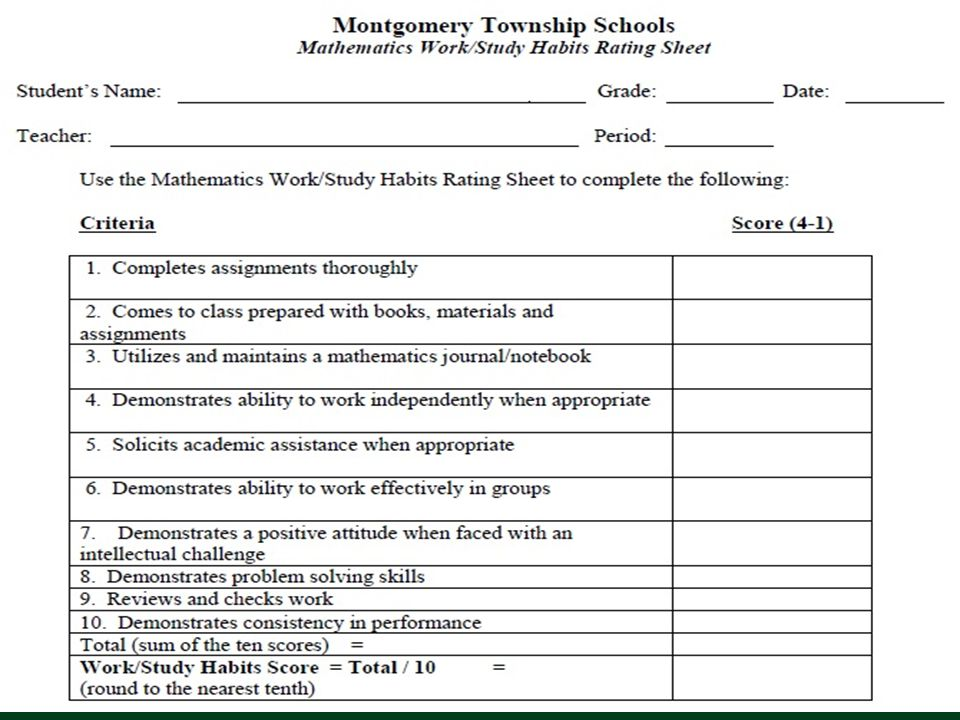 Montgomery Township School District February 15, 2012