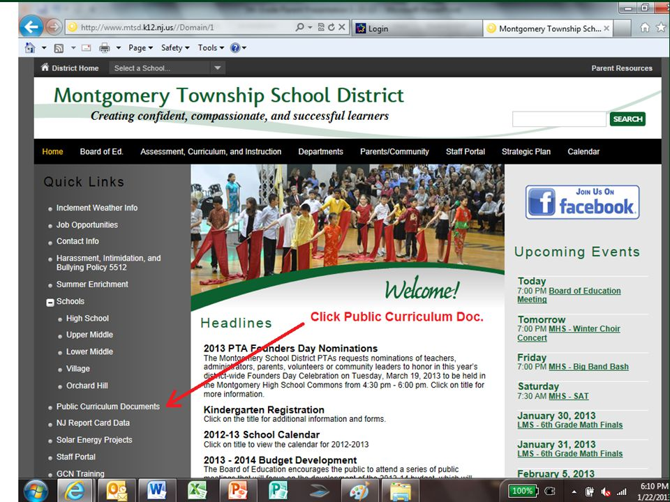 Montgomery Township School District February 16, 2011