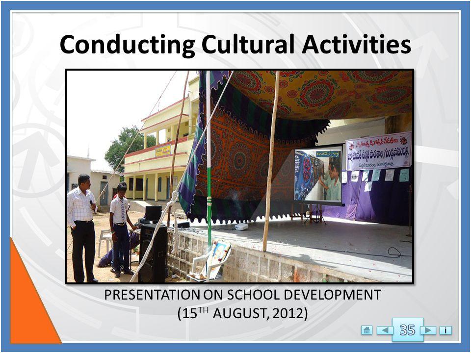 AIF DE CONTEST 2012-3 - ZPHS GUNDLA POCHAMPALLY MEDCHAL MANDAL RR DIST- PLEASE CLICK SLOWLY FOR FULL ANIMATIONS i i Conducting Cultural Activities QUIZ PROGRAM