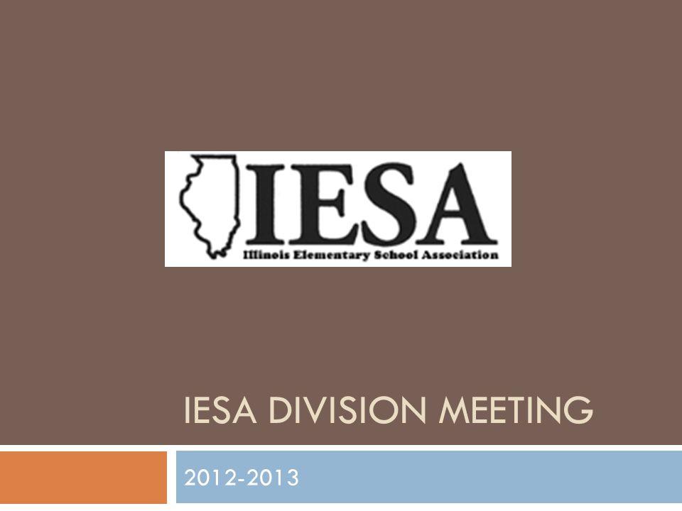 IESA DIVISION MEETING 2012-2013