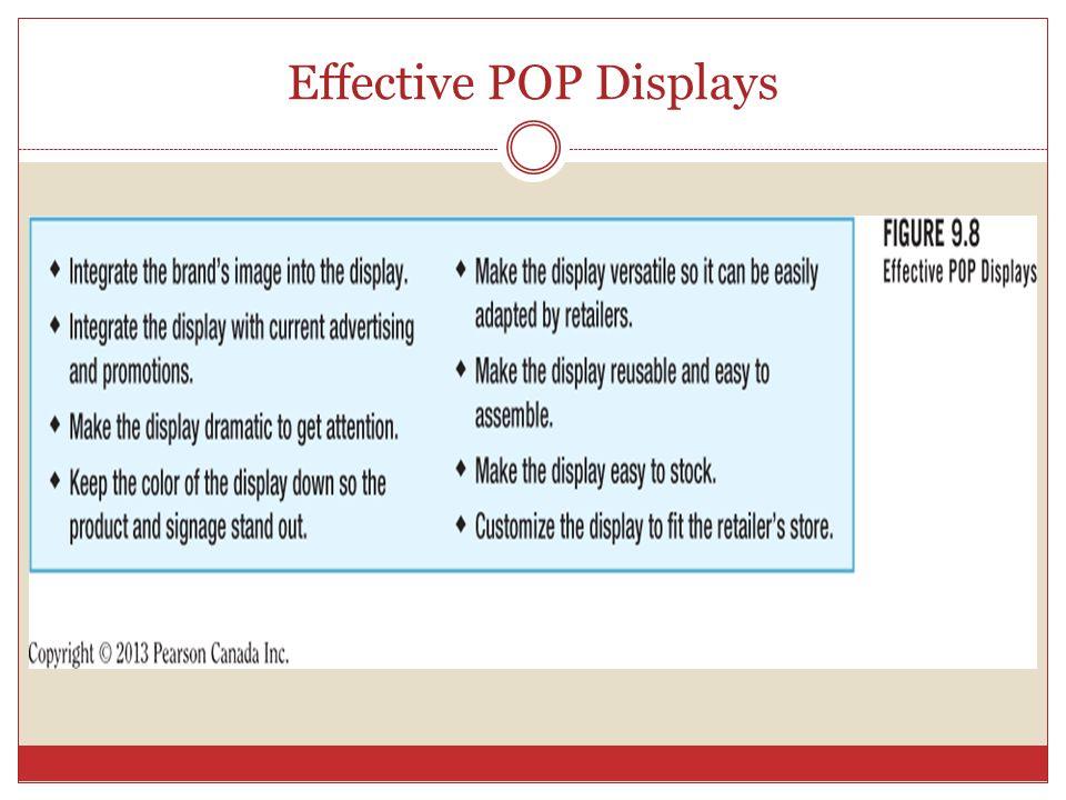 Effective POP Displays