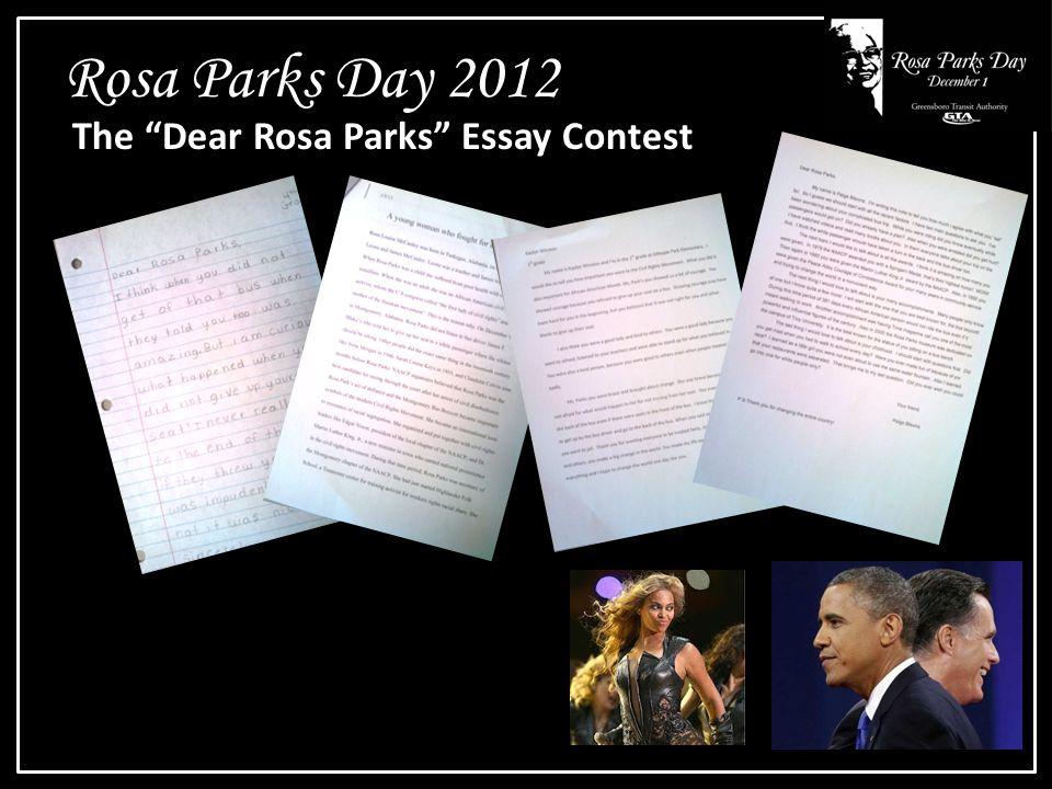 Rosa Parks Day 2012 The Dear Rosa Parks Essay Contest