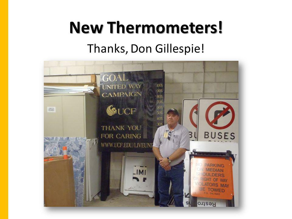 New Thermometers! Thanks, Don Gillespie!
