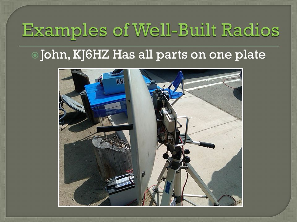 John, KJ6HZ Has all parts on one plate