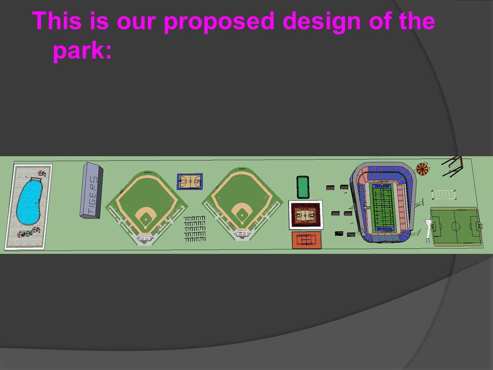 This is our proposed design of the park: